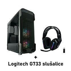 Računalo ADM School's Out V3 AMD Ryzen 5 5600X, 16GB, SSD 500GB NVMe, RTX3070, Windows 10 pro +  LOGITECH G733 Black