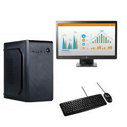 Računalo ADM Travail Bundle Ryzen 5 2400G, 8GB, 500GB SSD NVMe, Vega11, Windows 10 Pro + monitor HP P232 + miš i tipkovnica