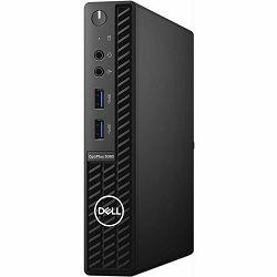 Dell OptiPlex 3080 Micro, i3-10100T, 8GB, 256GB SSD NVMe, Integrated, DVDRW, Wlan, Kb+Mouse, Ubuntu, D0267