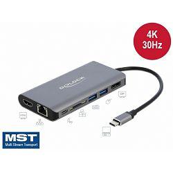 DELOCK Docking station USB Type-C, 4K - HDMI / DP / USB 3.0 / SD / LAN / PD 3.0, no.87683