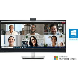 """DELL C3422WE 34"""" WQHD Video Conferencing Monitor with USB-C and RJ45, webcam"""