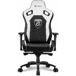 Sharkoon Skiller SGS4, igraća stolica, crno-bijela