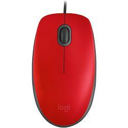 Logitech M110 Silent Red žični miš