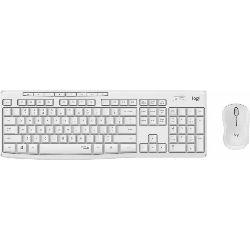 Logitech Wireless Combo MK295 Silent, White