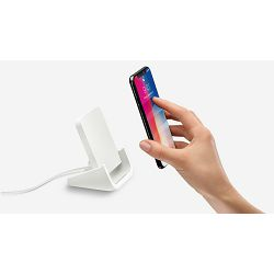 Logitech Powered Wireless Charging Stand, for iPhone 8 and above, White, 943-001630