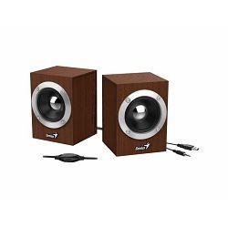 Genius SP-HF280 zvučnici 2.0, Drveni, USB+3,5mm