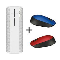 Logitech bundle Ultimate Ears BOOM2 Bluetooth zvučnik Yeti White + 2X M171 miš (crveni i plavi)