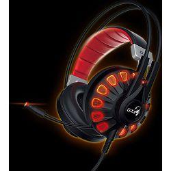 Genius Headset G680 7.1 Gaming LED USB, Red/Black