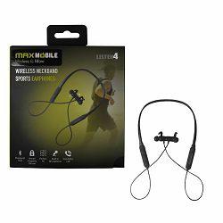 MAXMOBILE slušalica Bluetooth 5.0 DHBT-020 NECKBAND SPORTS HEADSET crna