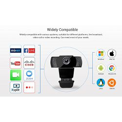 FUJIKAM webcam 812H 1080p USB2.0