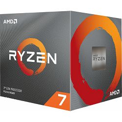 CPU AMD Ryzen 7 3700X (4.4GHz,36MB,65W,AM4, 8C/16T) box with Wraith Prism cooler, 100-100000071BOX