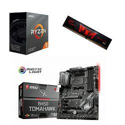 AMD Bundle Ryzen 3600 Trio, B450 Tomahawk Max, DDR4 1x8 G.Skill Aegis 3000MHz