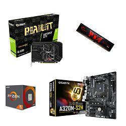AMD Bundle Ryzen 1600 Quartet, A320M-S2H, DDR4 1x8 G.Skill Aegis 3000MHz, GTX1660Ti Palit StormX, igra SCUM!