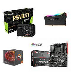 AMD Bundle Ryzen 2700X Quartet, B450 Tomahawk Max, DDR4 16GB (1x16) Corsair 3200MHz RGB, Palit GTX1660Ti StormX,  igra SCUM!
