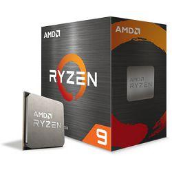 CPU AMD Ryzen 9 5900X (4.8GHz,70MB,105W,AM4) BOX, !! nema coolera !!, 100-100000061WOF