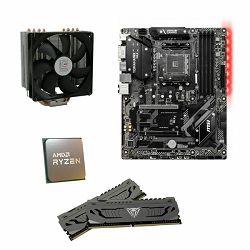 AMD Bundle Ryzen 3600 Tray Promo II, B450 Tomahawk Max II, DDR4 16GB Patriot Viper 3200MHz, LC Power  LC-CC-120