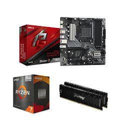 AMD Bundle Ryzen 5700G Promo, B550M Phantom Gaming 4, DDR4 16GB 3200MHz Kingston Renegade + UPDATE BIOSA