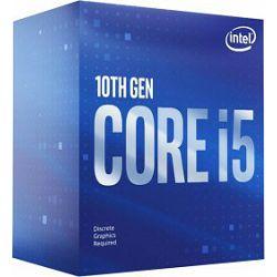Intel Core i5-10400F, 2.9GHz, LGA1200, BOX, BX8070110400F, !! nema GPU !!