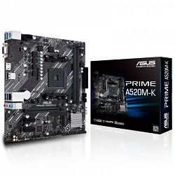 ASUS Prime A520M-K, AMD A520, AM4, 90MB1500-M0EAY0