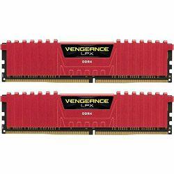 DDR4 8GB (2x4) Corsair 2400MHz LPX C16 Red, CMK8GX4M2A2400C16R