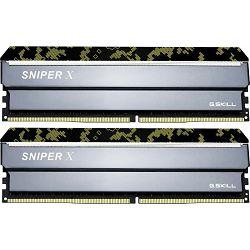 DDR4 32GB (2x16) G.Skill 3200MHz, SNIPER X digital Camouflage, F4-3200C16D-32GSXKB