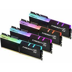 DDR4 64GB (4x16) G.Skill 3200MHz TridentZ RGB Series, F4-3200C16Q-64GTZR