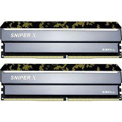 DDR4 16GB (2x8) G.Skill 3200MHz, SNIPER X digital Camouflage, F4-3200C16D-16GSXKB