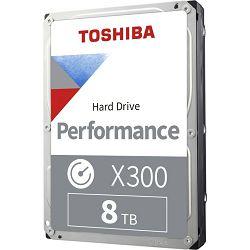 "Toshiba 8TB 3.5"" 7200rpm, 256MB, X300 Bulk, HDWR180UZSVA"