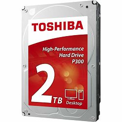 "Toshiba 2TB 3.5"" 5400rpm, 128MB, P300, HDWD220UZSVA"
