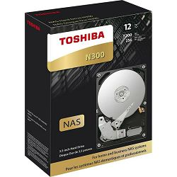 "Toshiba 12TB 3.5"" 7200rpm, 256MB, N300, Retail, HDWG21CEZSTA"