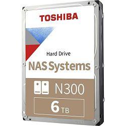 "Toshiba 6TB 3.5"" 7200rpm, 256MB, N300, Bulk, HDWG160UZSVA"