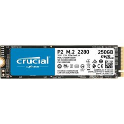 Crucial SSD 250GB P2, M.2 SSD, NVMe, CT250P2SSD8