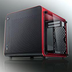 Raijintek Metis Evo TGS Red, Glass Window, mini-ITX
