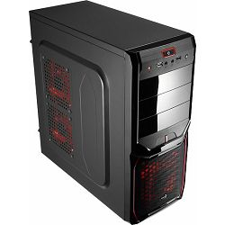 Aerocool V3X Advance Devil Red Edition Midi Tower, ACCM-PV01124.R1