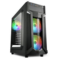Sharkoon VG6-W Midi Tower RGB,prozirna prednja/bočna stranica, crno