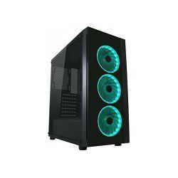 LC POWER 995B Light Box TG Midi Tower Black, RGB