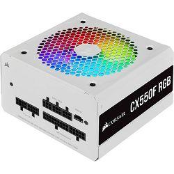 Napajanje Corsair 550W CX550F RGB White,  80 PLUS Bronze, CP-9020225-EU