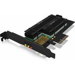 IcyBox M.2 SATA/NVMe SSD > PCIe, IB-PCI215M2-HSL