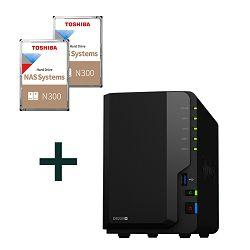 Synology bundle DS220+ DiskStation 2-bay + 2x12TB Toshiba N300