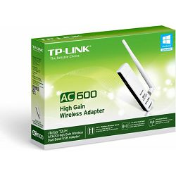 TP-Link Archer T2UH AC600 High gain dual band 3dBi white, 2.4GHz/5GHz WLAN, USB-A 2.0 [plug]