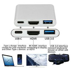 Asonic HUB N-UC06, USB Tip C na HDMI, USB 3.0, USB Tip C