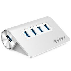Orico 4-portni USB3.0 hub, Aluminium, srebrni (ORICO M3H4-V1-SV), 35182