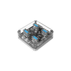 Orico 4-portni USB3.0 hub, prozirni (ORICO MH4U-U3-03-CR), 38901