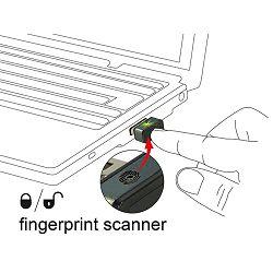 Delock USB Type-A Fingerprint Scanner for Windows 10 Hello, 62963