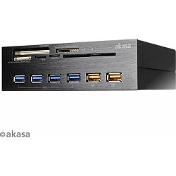 Akasa InterConnect EX Multi slot-Card Readers, USB 3.0, AK-HC-07BK