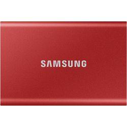 Samsung 500GB 2.5in USB-C 3.1 T7 Touch Red SSD MU-PC500R/WW