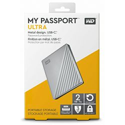 WD 2TB My Passport ULTRA Portable 2018 Silver, 2.5