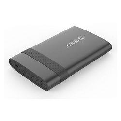 "Orico kućište 2.5"" USB 3.0 na USB-C, SATA HDD/SSD do 9.5 mm, shockproof, crno, ORICO 2538C3, 49576"