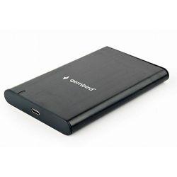 Gembird EE2-U3S-6 kućište 2.5'' USB Type C Black, GEM-EE2-U3S-6
