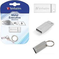 USB 32GB Verbatim Nano Store'n'Go Metal Executive Silver USB 2.0, V098749